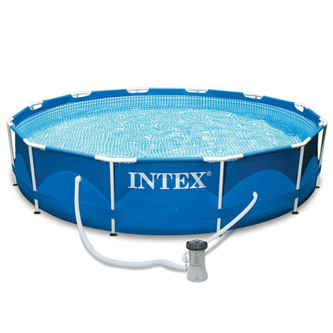 "Intex Metal Frame 12' x 30"" Swimming Pool w/ Filter Pump"