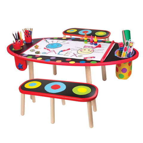 Kids Art Studio Drawing Table And Benches Bobbie Jo S One Stop Shop