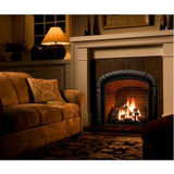 Large Gas Fireplace Logs 10 Piece Ceramic Wood Set