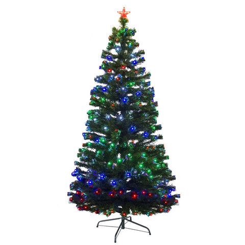 7 Foot Pre Lit Fiber Optic Christmas Tree With Stand – Bobbie-Jo's ...