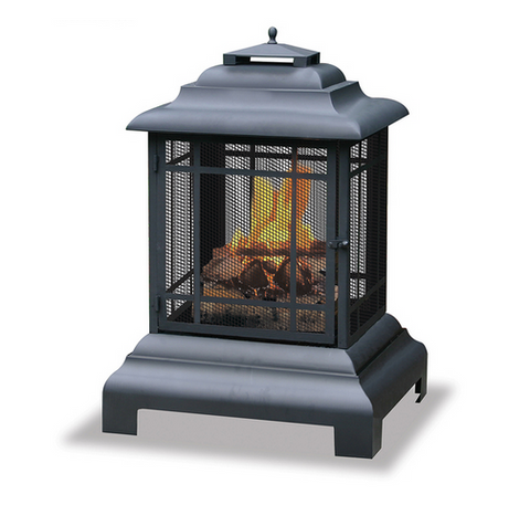 Outdoor Fire Pit Large Firehouse Wood Patio Fireplace Backyard Decor Durable NEW