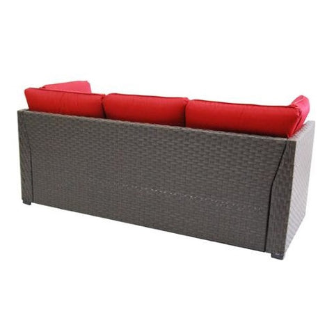 ... 3 Piece Outdoor Wicker Sectional Sofa Patio Furniture Set ...