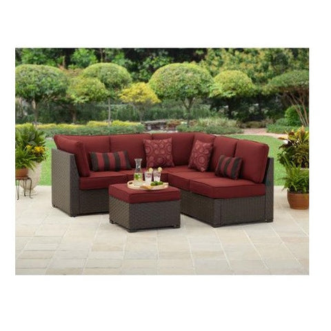 3 Piece Outdoor Wicker Sectional Sofa Patio Furniture Set