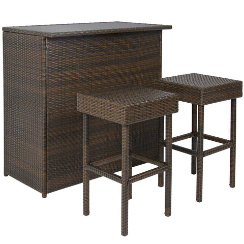 3 Piece Patio Bar Set