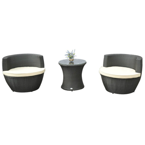 PE Rattan Wicker Patio Chair Set