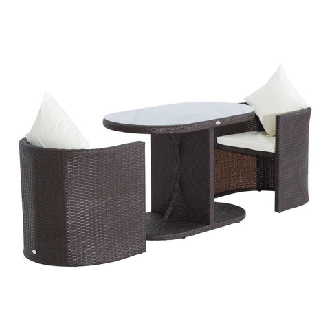 Outdoor PE Rattan Wicker Patio Furniture Set