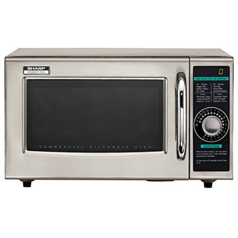 Sharp R-21CF 1.0 Cu Ft Microwave Oven, 1000 Watts