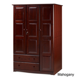 Solid Wood Wardrobe With Lock