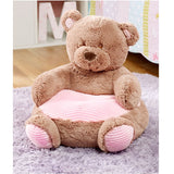Toddler Plush Animal Shaped Chair Soft Critter Seat Kids Bean Bag