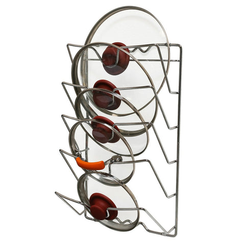 Wall Mounted Pot Lid Organizer Rack