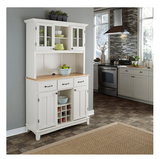 White Buffet Server with Hutch