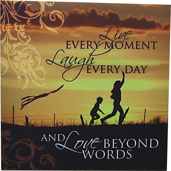H&H Canvas Wall Art - Live every moment... - Gift Horse Online