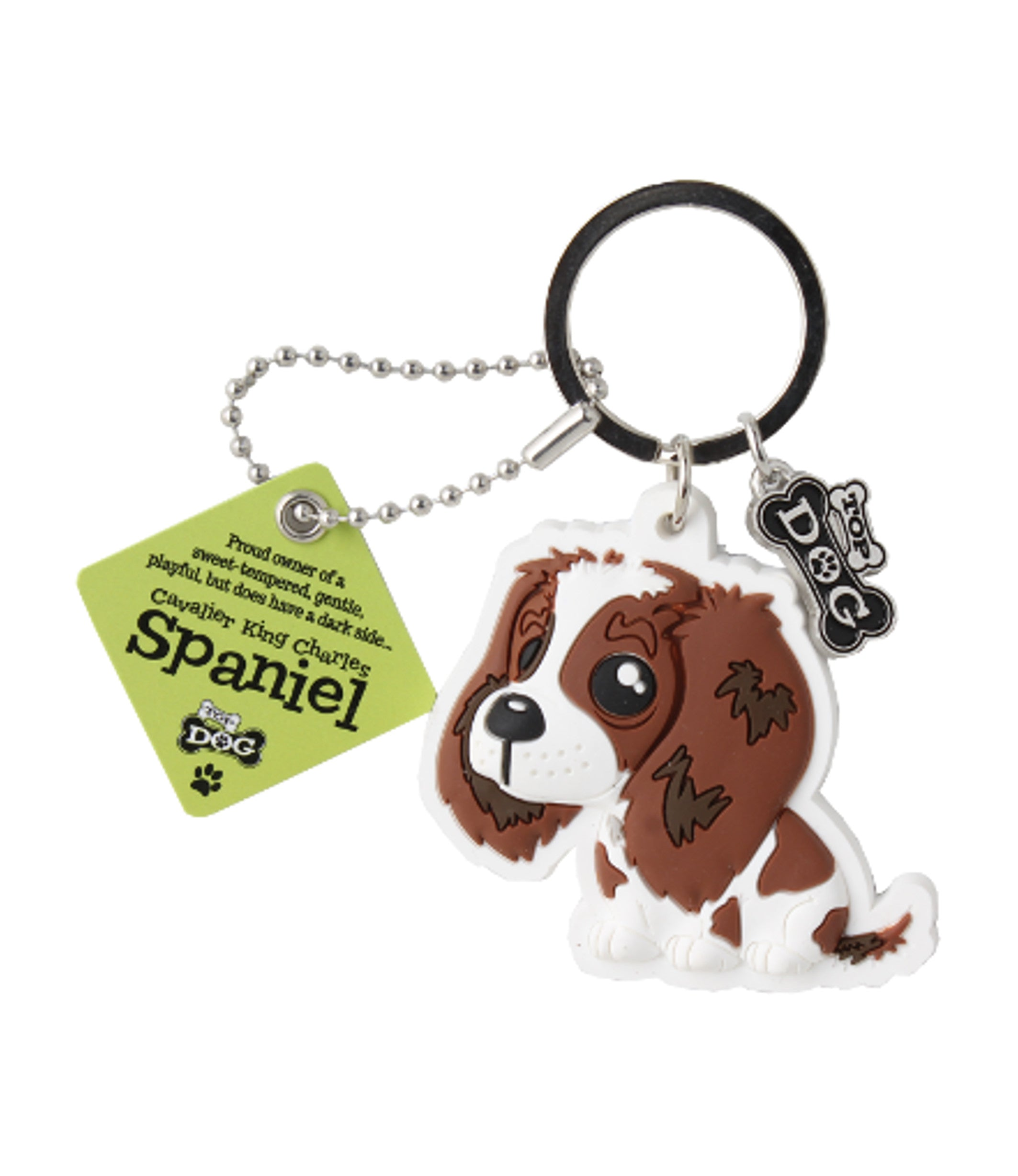 H&H Wags & Whiskers Keyring: Cavalier King Charles Spaniel - Gift Horse Online