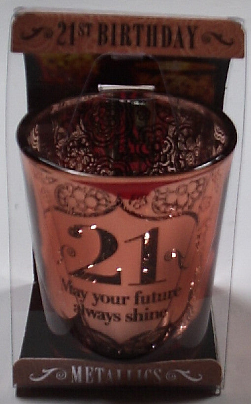 HH Metallics Personalised Candle Pot 21st Birthday