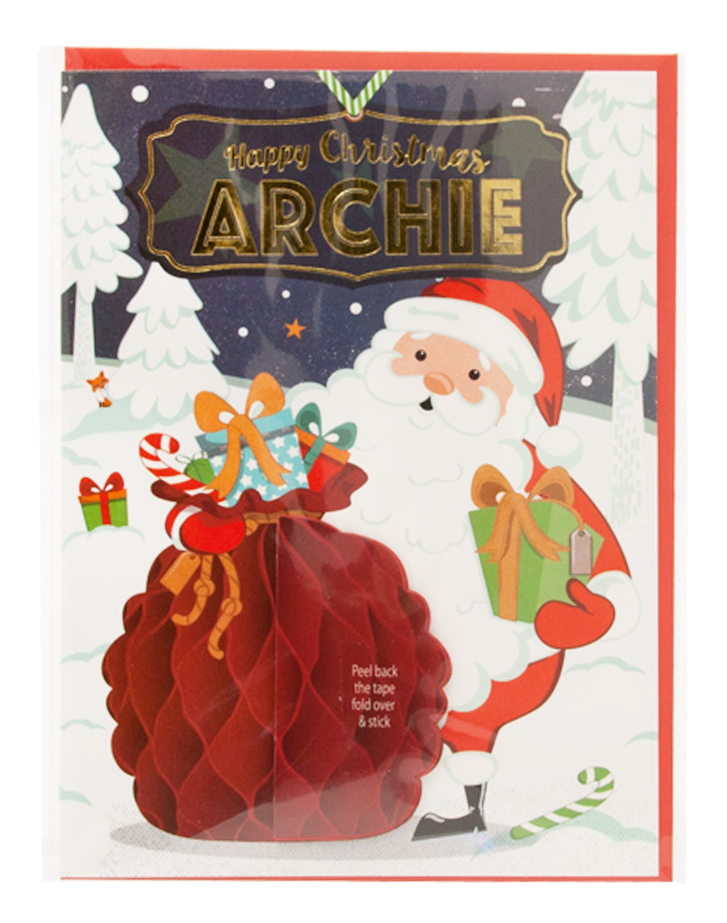 Gift Horse Online Hh Personalised Honeycomb Christmas Card Archie