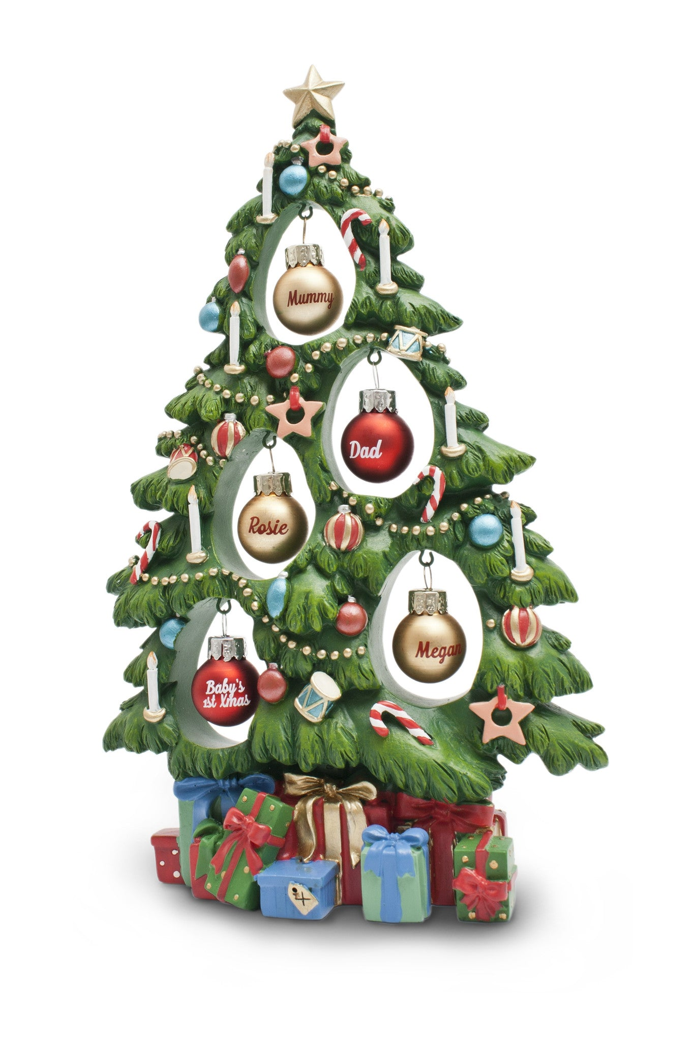 h u0026h our christmas family tree u0026 mini baubles at gift horse online
