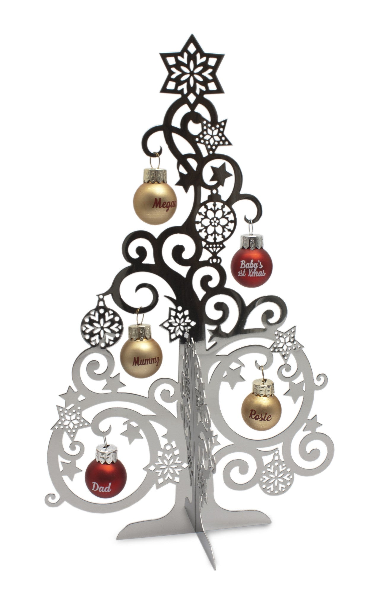 Gift horse h christmas family tree metal style