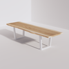 Trapezoidal Base Conference Table (10ft) - Live Edge