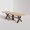 X-Base Conference Table (10ft) - Live Edge