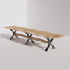 X-Base Conference Table (14ft) - Live Edge