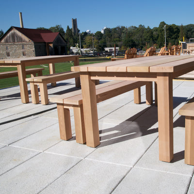 Outdoor Table and Bench