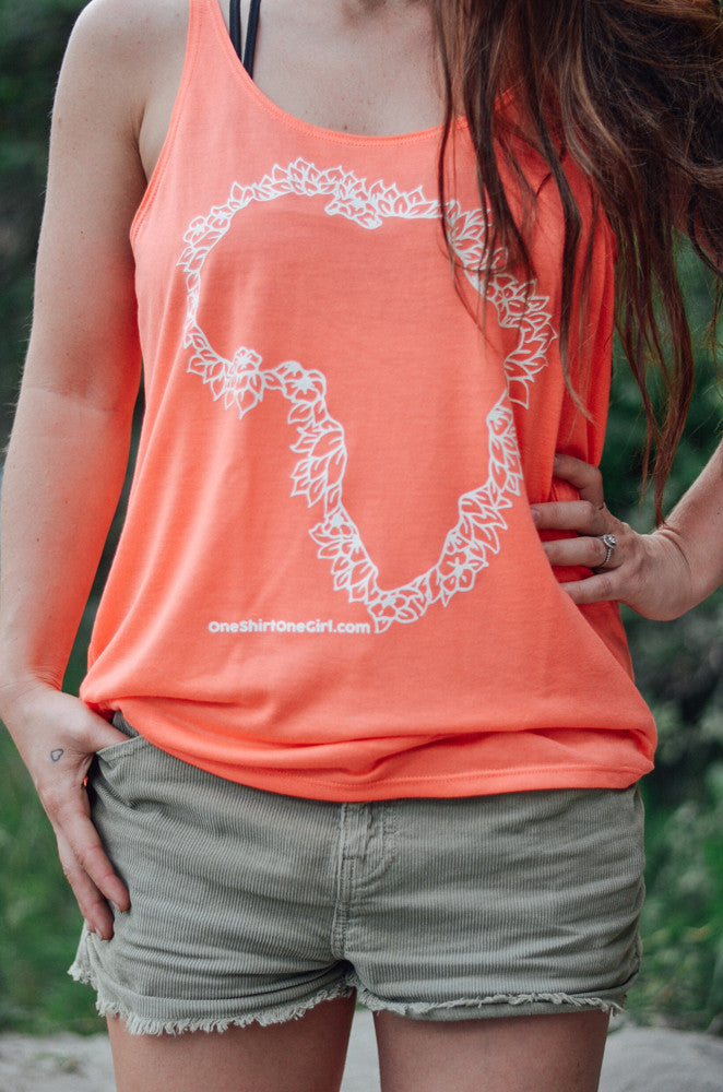Coral Slouchy Tank