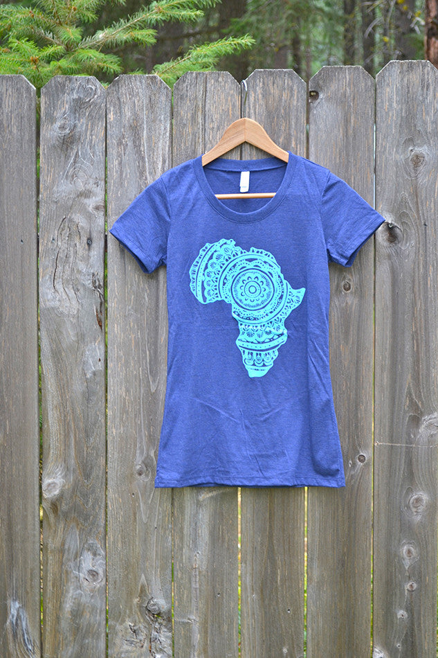 Blue-on-Blue Africa Short-Sleeve Tee