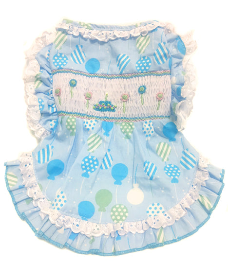 Birthday Balloons Hand-Smocked Dress