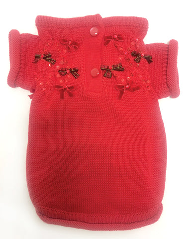 Christmas Bows Hand-Smocked Sweater