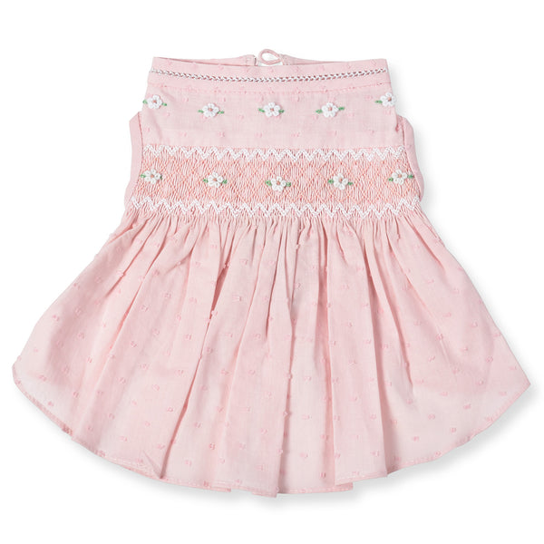 Undottedly Pink Hand-Smocked Dress