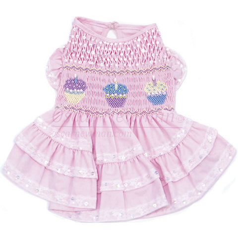 Birthday Cupcake Hand-Smocked Dress