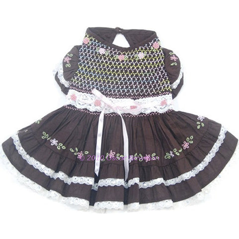 Triple Threat Hand-Smocked Dress