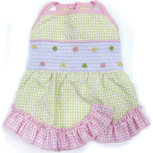 Life's a Picnic Gingham Smocked Dress