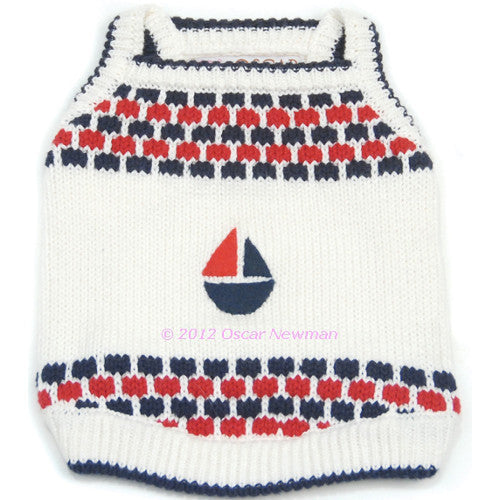 Sail Boat Regatta Knitted Tank