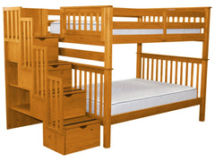 Full over Full Bunk Beds with Stairs from $898