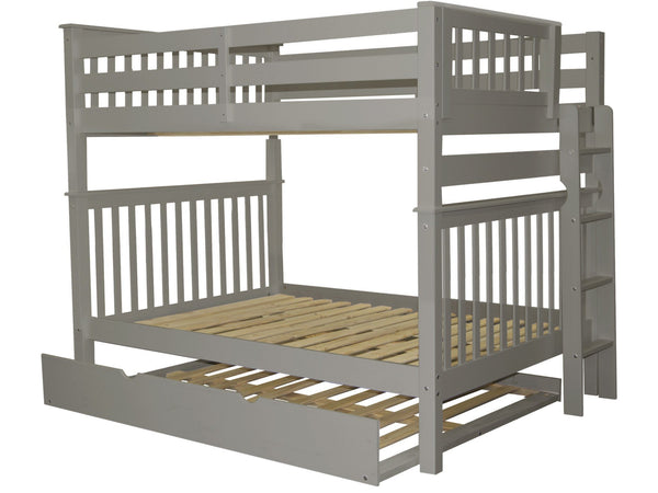 Bunk Beds Full Over Full End Ladder Gray Full Trundle 779