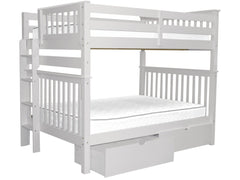 Bunk Beds Full over Full End Ladder White with Drawers for only $712