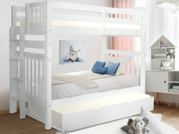 Bunk Beds Tall Twin White Trundle 576 Bunk Bed King