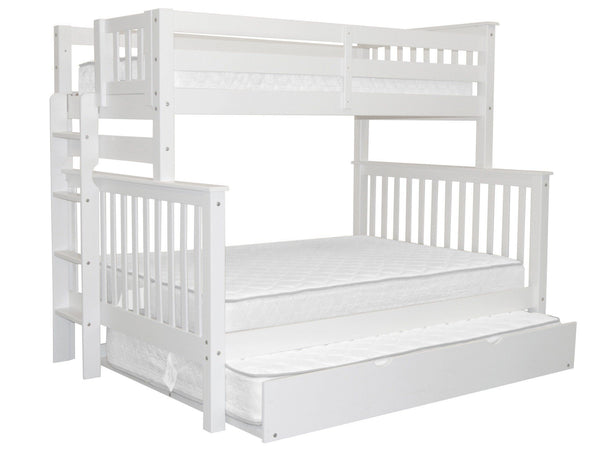 Bunk Bed Twin over Full End Ladder White with Full Trundle for only $652