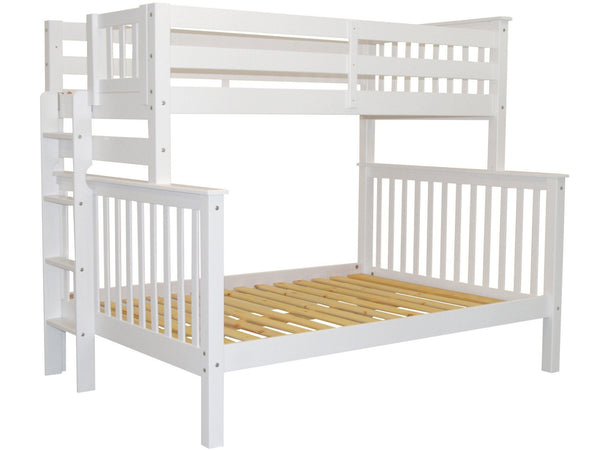 Bunk Bed Twin over Full End Ladder White