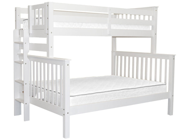 Bunk Bed Tall Twin over Full End Ladder White for only $465