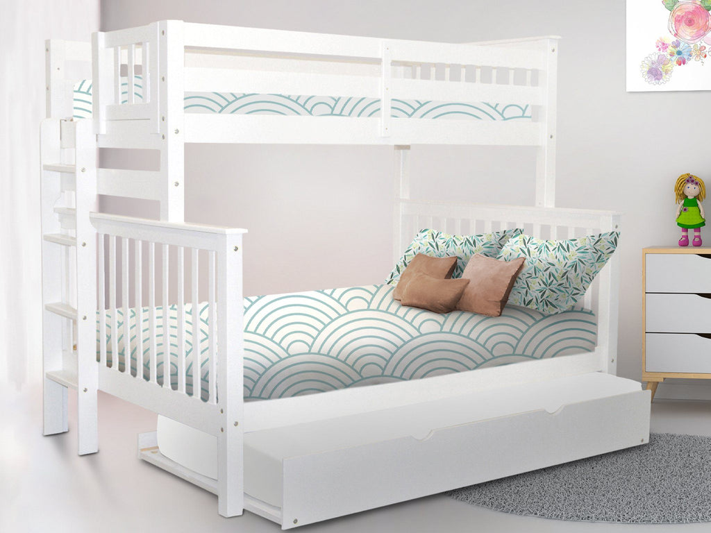 Picture of: Bunk Beds Twin Over Full End Ladder White Trundle 646