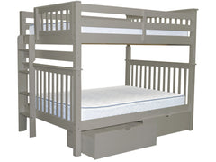 Bunk Bed Full over Full End Ladder Gray + Drawers for only $729