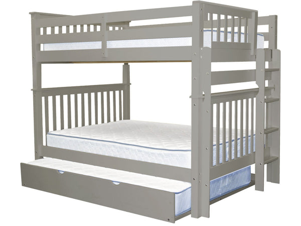 Bunk Bed Full over Full End Ladder Gray + Full Trundle for only $779