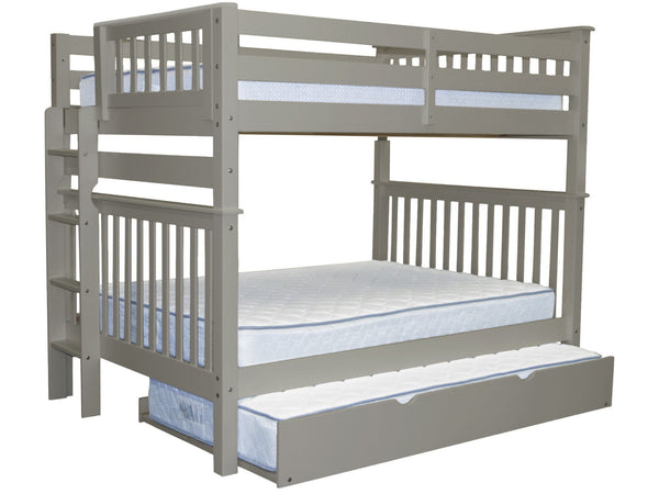 Bunk Bed Full over Full End Ladder Gray + Trundle for only $729