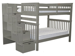 Bunk Bed Full over Full Stairway Gray for only $999