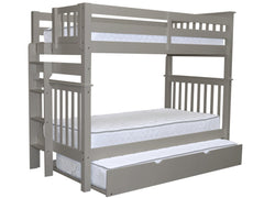 Bunk Bed Tall Twin over Twin End Ladder Gray with Trundle for only $549