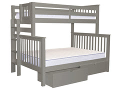 Bunk Bed Twin over Full End Ladder Gray + Drawers for only $615