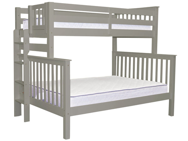 Bunk Beds Twin Over Full End Ladder Gray 475