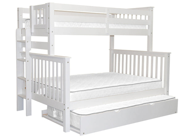 best sneakers 7cf68 07302 Bunk Beds Twin over Full End Ladder White + Trundle